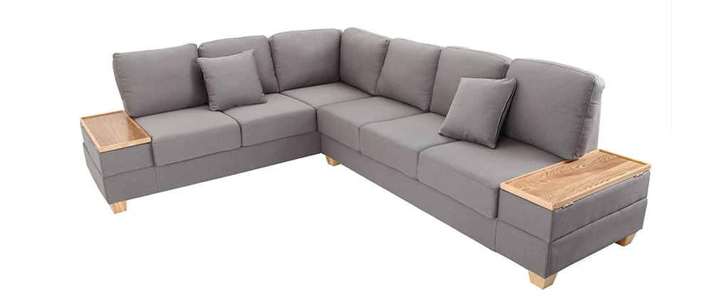 Design ecksofa  Design-Ecksofa links Grau HUGE - Miliboo