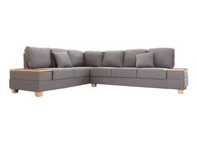 Design-Ecksofa links Grau HUGE