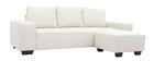 Design-Ecksofa Stoff 3-Sitzer Naturfarben DEAUVILLE