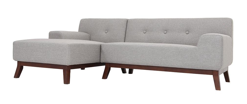 Ecksofa design  Design-Ecksofa VILA Grau - Miliboo