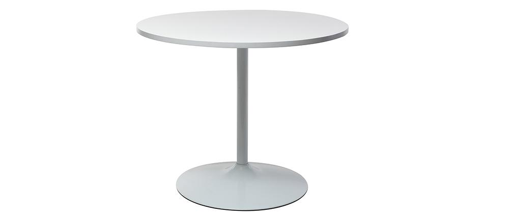 Design-Esstisch 90 cm Weiß CALISTA