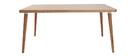 Design-Esstisch aus heller Eiche L160 TOTEM