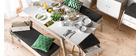 Design-Esstisch Ausziehbar mit Stauraum EASY