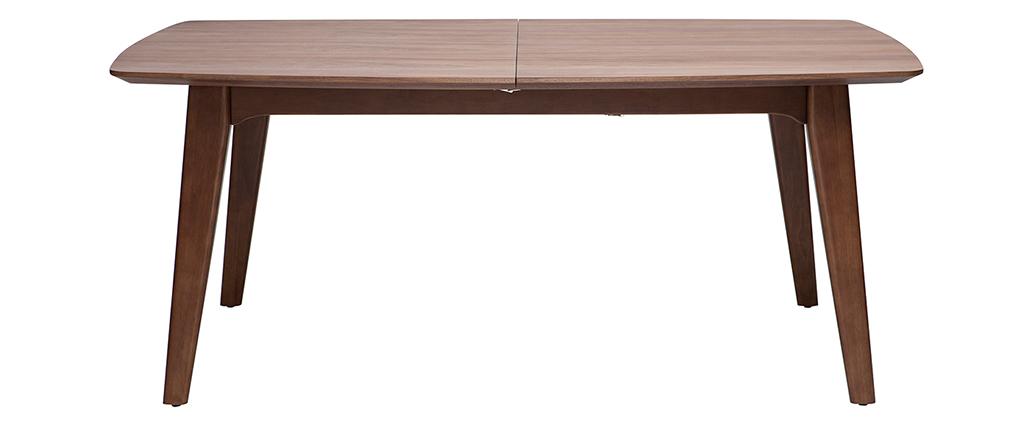 Esstisch ausziehbar design  Design-Esstisch ausziehbar Nussbaum FIFTIES - Miliboo