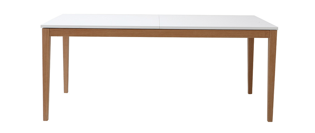 Design-Esstisch ausziehbar Weiß Füße Holz L180-260 DELAH