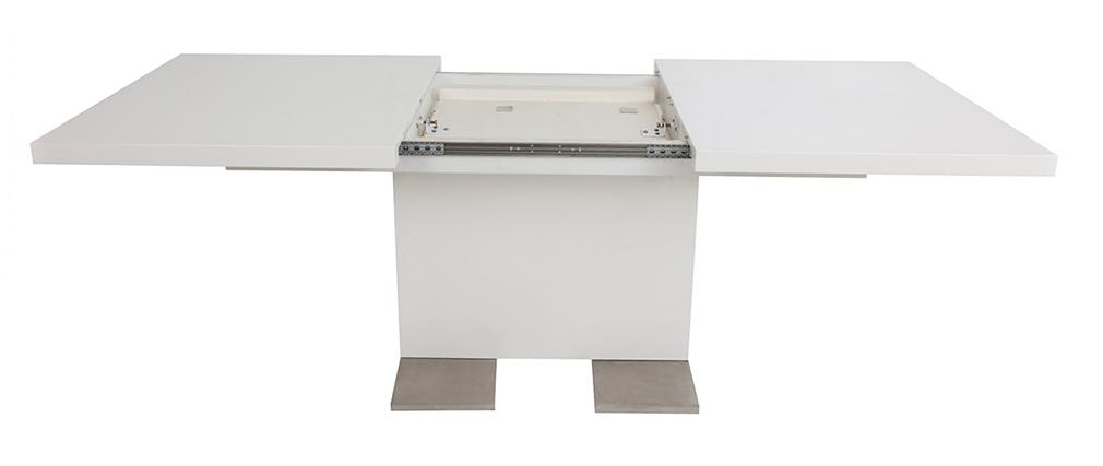 Design-Esstisch ausziehbar Weiß lackiert L160-220 NEMIA