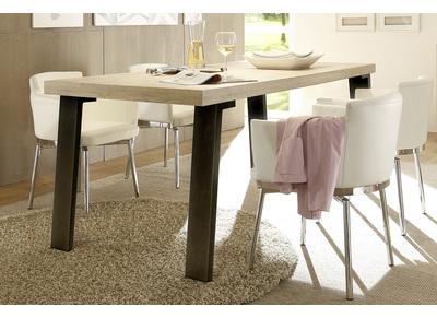 Design-Esstisch Eiche und Metall ORIGIN