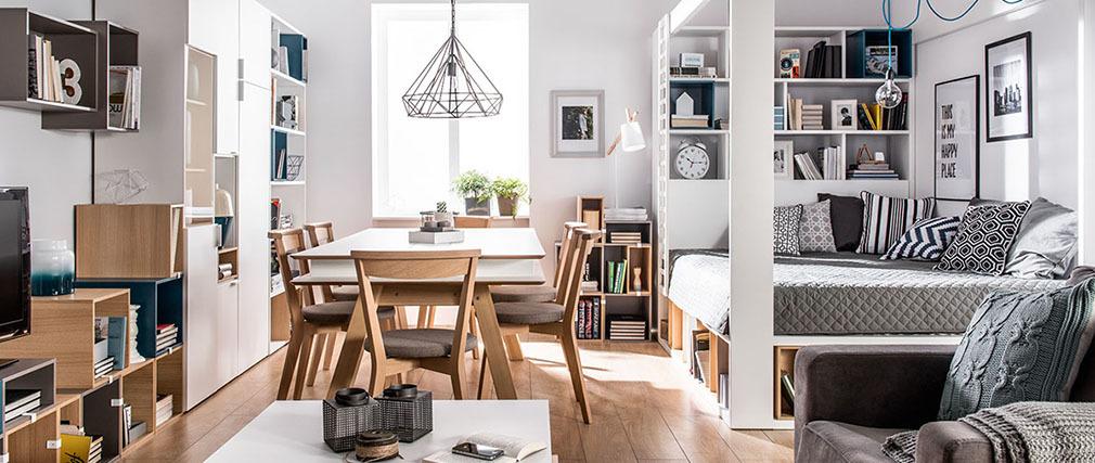 esstisch mit stauraum teak massivholz stauraum maiky with. Black Bedroom Furniture Sets. Home Design Ideas