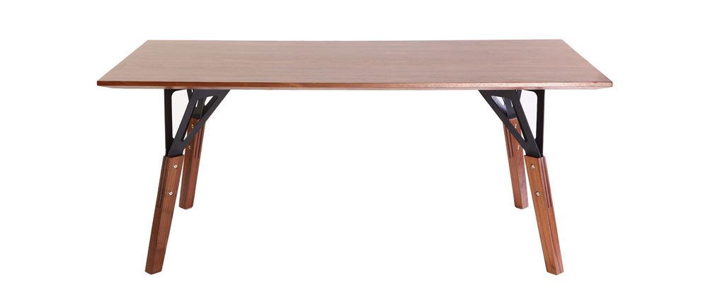 Design esstisch nussbaum 180 x 90 cm wadden miliboo for Design esstisch expo weiss ausziehbar 137 180 cm