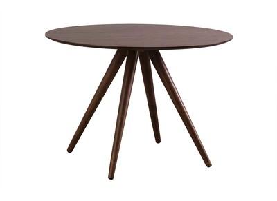 Design-Esstisch rund 106 cm Nussbaum WALFORD