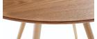 Design-Esstisch rund Eschenholz ARTIK