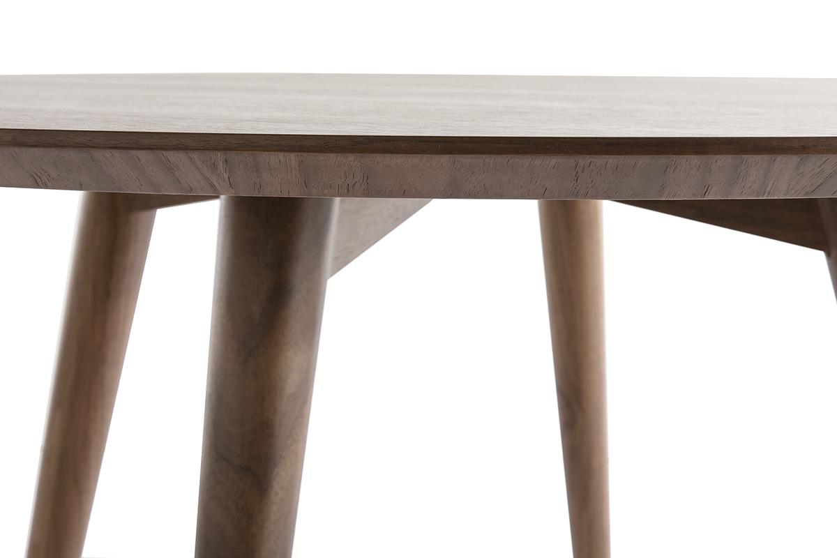 Design esstisch rund nussbaum livia miliboo for Designer esstisch rund