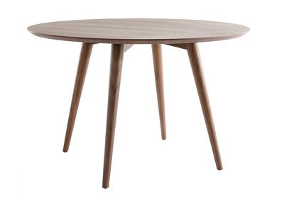 Design-Esstisch rund Nussbaum LIVIA
