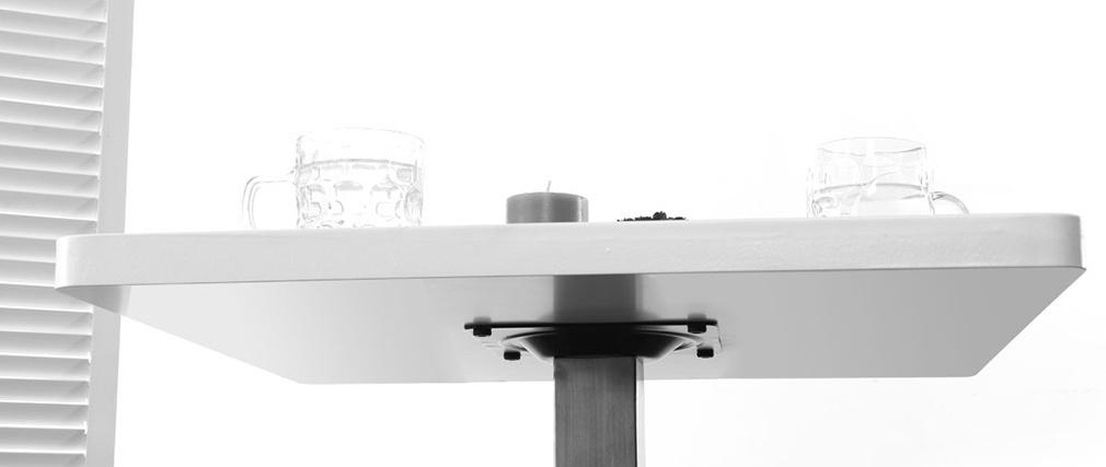 Design-Esstisch Viereck Weiß Mittelfuß L60 JORY