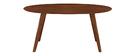 Design-Esstisch Vintage oval Nussbaum L160 MARIK