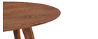 Design-Esstisch Vintage oval Nussbaum MARIK