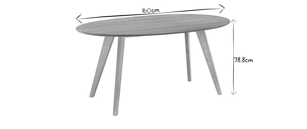 Design esstisch vintage oval nussbaum marik miliboo - Ovale wandregale ...