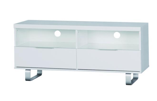 design fernsehm bel lea 2 f cher und 2 schubladen wei miliboo. Black Bedroom Furniture Sets. Home Design Ideas