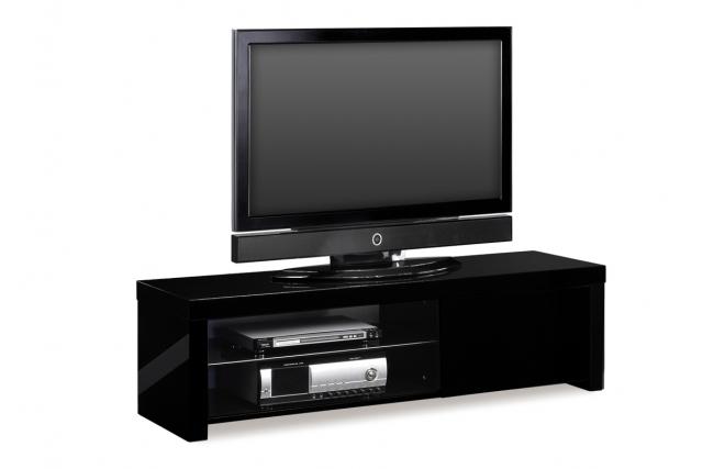 design fernsehm bel new york schwarz miliboo. Black Bedroom Furniture Sets. Home Design Ideas