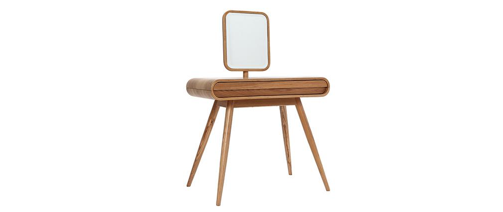 Design-Frisiertisch Eschenholz mit Spiegel - BJORG