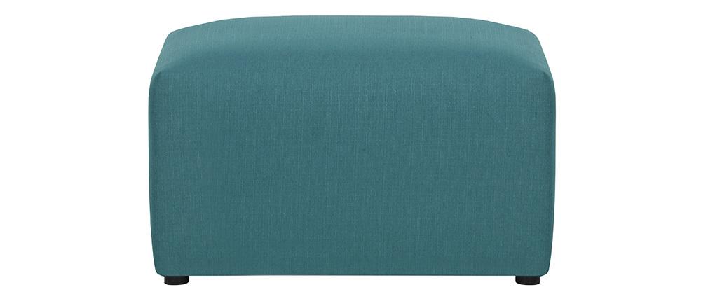 Design-Fußstütze Stoff Blaugrün MODULO