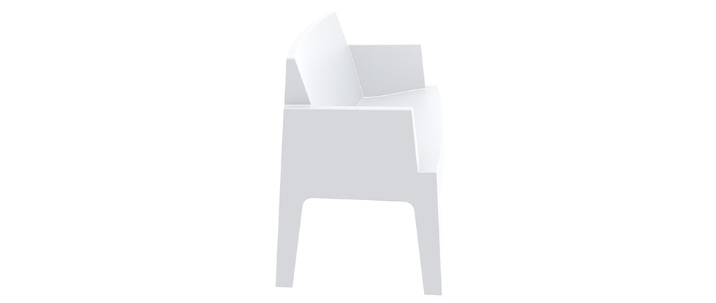 Design-Gartenbank Weiß LALI