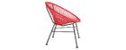 Design-Gartensessel ARANGO aus rotem Kunststoffgeflecht