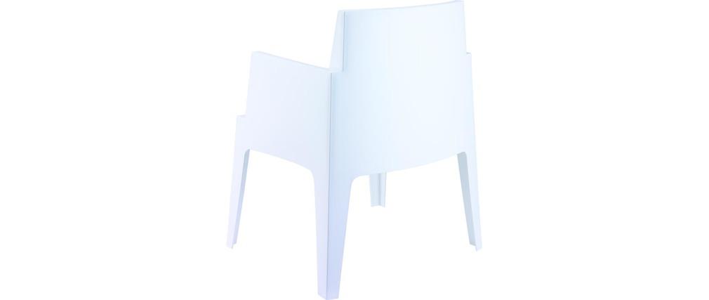 Design-Gartenstühle Weiß 4er-Set LALI - Miliboo