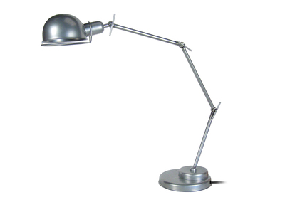 Design Gelenk-Tischlampe Stahl verchromt industriell DUBLIN