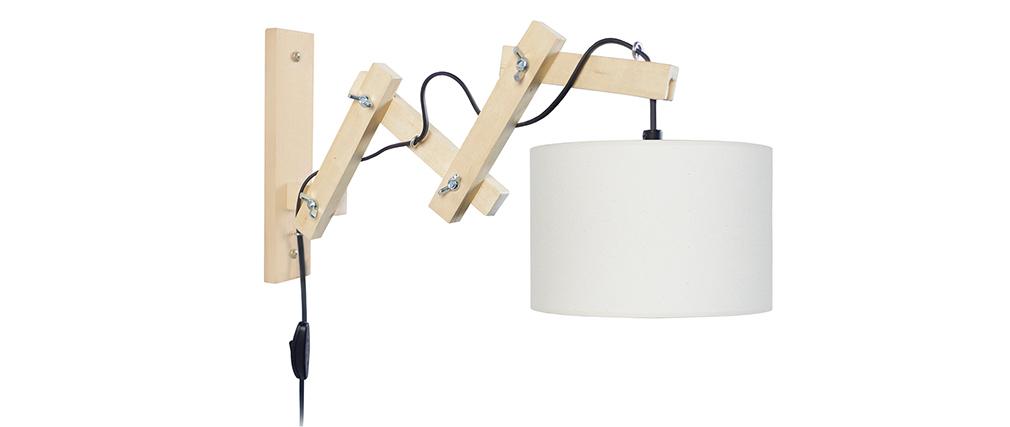 Design Gelenk-Wandleuchte Holz ARMS