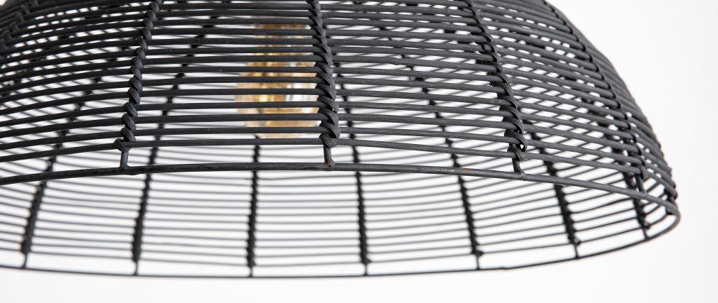 Design-Hängeleuchte aus Bambus schwarz CUP