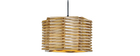Design-Hängeleuchte aus Holz PENTA