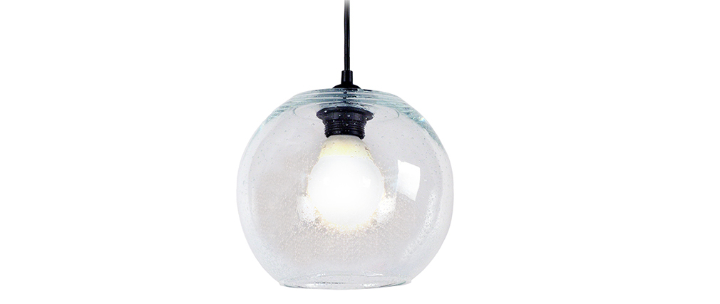 Design-Hängeleuchte Kugel Glas Transparent SPHERE
