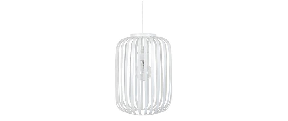 Design-Hängeleuchte Metall Weiß ALVEOL
