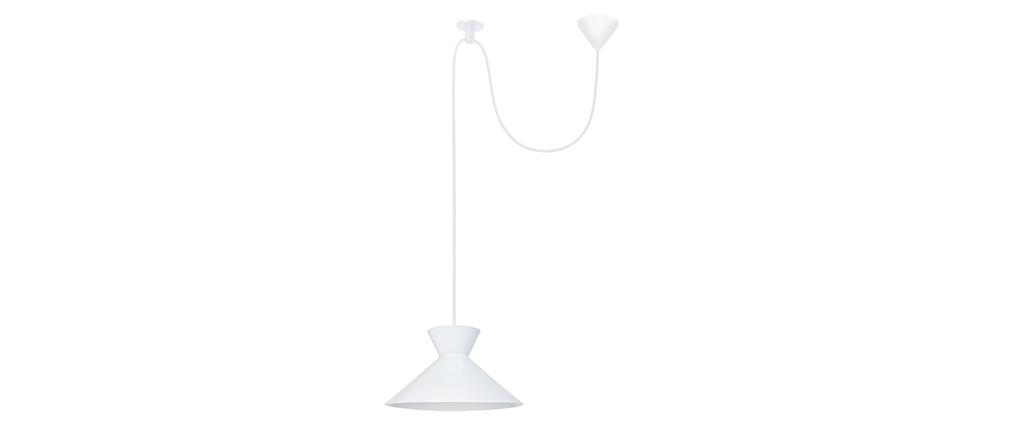 Design-Hängeleuchte Metall Weiß LEEDS