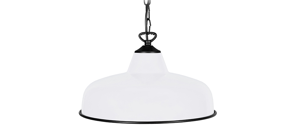 Design-Hängeleuchte Metall Weiß VINTI