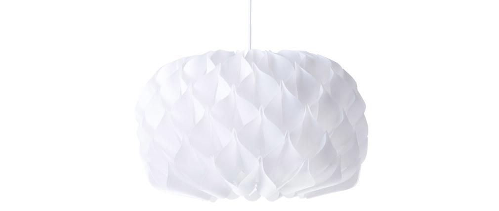 Design-Hängeleuchte Weiß RUCHE
