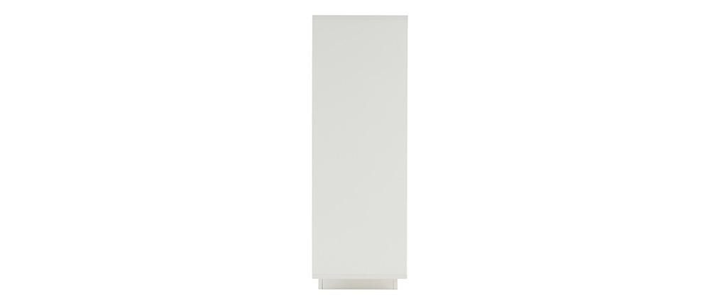 Design-Highboard 4 Türen weiß und helles Holz-Dekor LAND