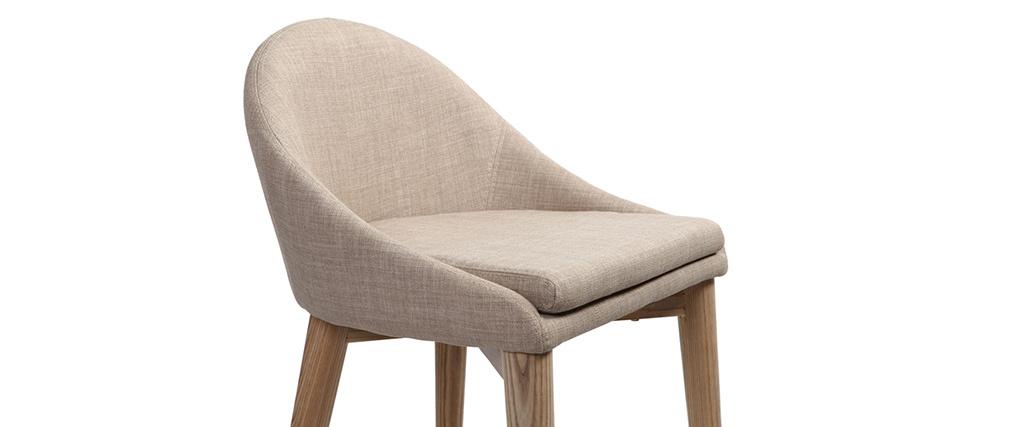 Design-Hochstuhl Holz Polyester Beige SHANA