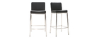 Design-Hocker 66 cm Schwarz 2er-Set EPSILON