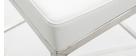 Design-Hocker 66 cm Weiß 2er-Set EPSILON
