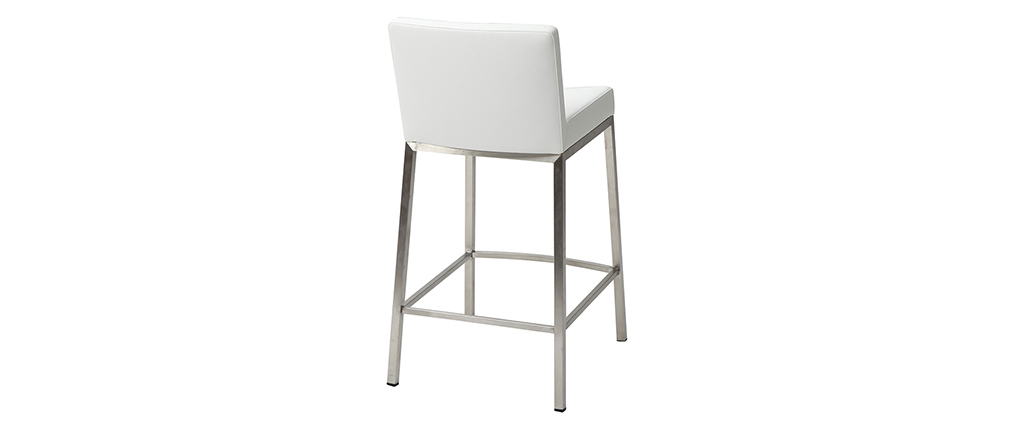Design-Hocker 66 cm Weiß 2er-Set EPSILON
