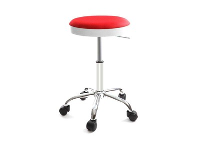 Design-Hocker mit Rollen THEMIS Rot