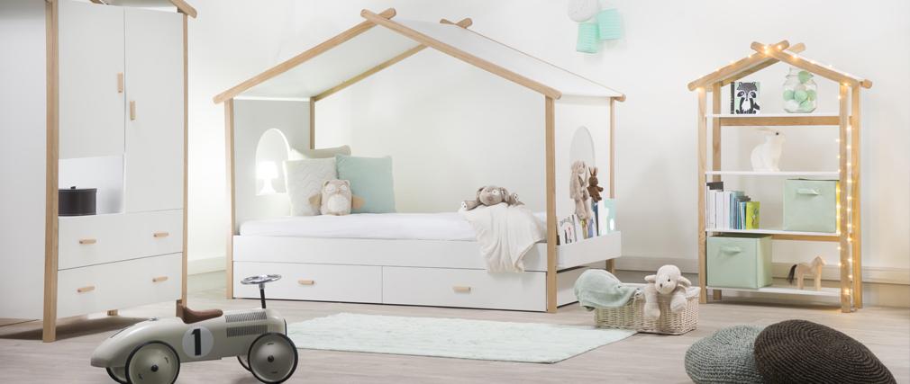Kinderbett haus  Design-Kinderbett in Hausform 90 x 190 cm BIRDY - Miliboo
