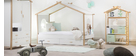 Design-Kinderbett in Hausform  90 x 190 cm BIRDY