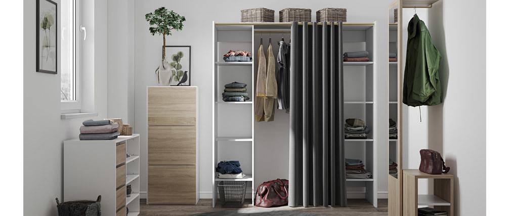 Design-Kleiderablage mit Regalen LOOM
