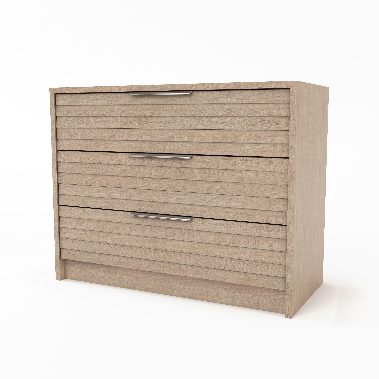 Kommode design  Design-Kommode 3 Schubladen helles Holz BEA - Miliboo