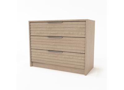 Design-Kommode 3 Schubladen helles Holz BEA