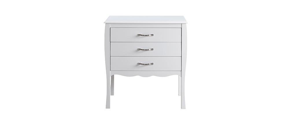 Design-Kommode Barockstil Weiß 3 Schubladen MARGOT