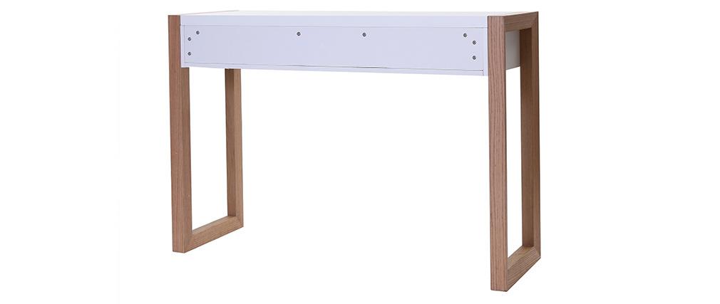 Design-Konsole 120 Weiß und Eiche ARMEL
